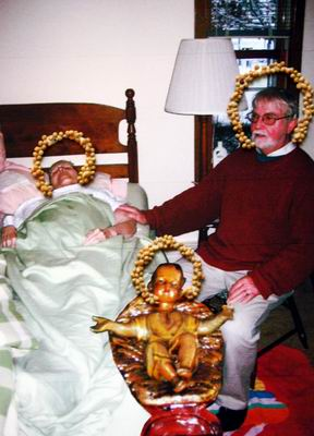 Portrait of Dr. Berg's parents with the Christ child.